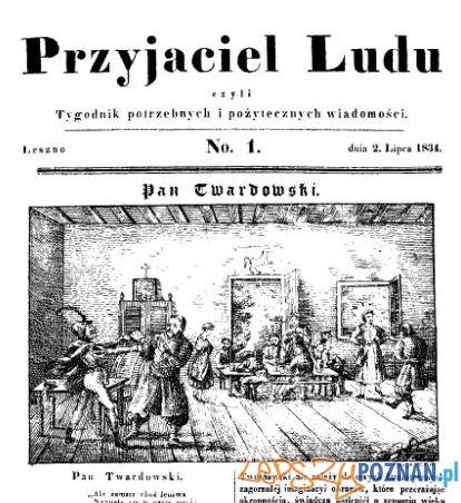 Przyjaciel Ludu nr 1, 2 lipca 1834 Foto: Wielkopolska Biblioteka Cyfrowa