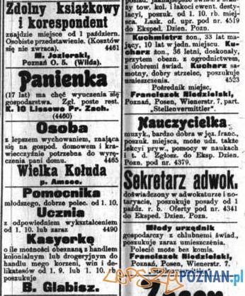 Anonse, Dziennik Poznański, 24.08.1902