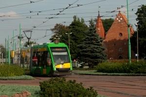 Tramwaj na Rondzie Śródka Foto: lepszyPOZNAN.pl / Ewelina Gutowska