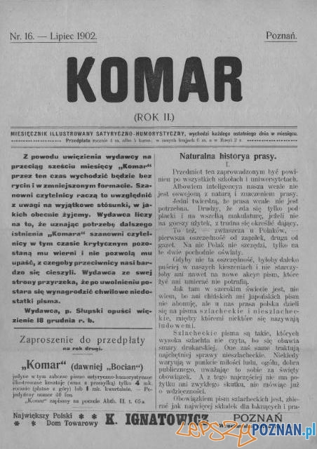 Komar nr 16 Foto: Wielkopolska Biblioteka Cyfrowa