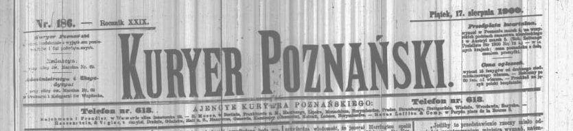 Kurjer Poznański, 17 sierpnia 1900