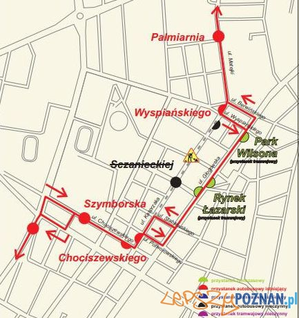 Objazd 64 na Matejki Foto: ZTM Poznań
