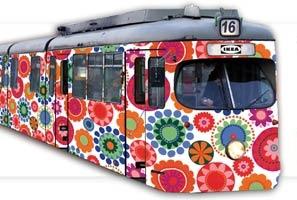 Nietypowy tramwaj IKEA  Foto: IKEA