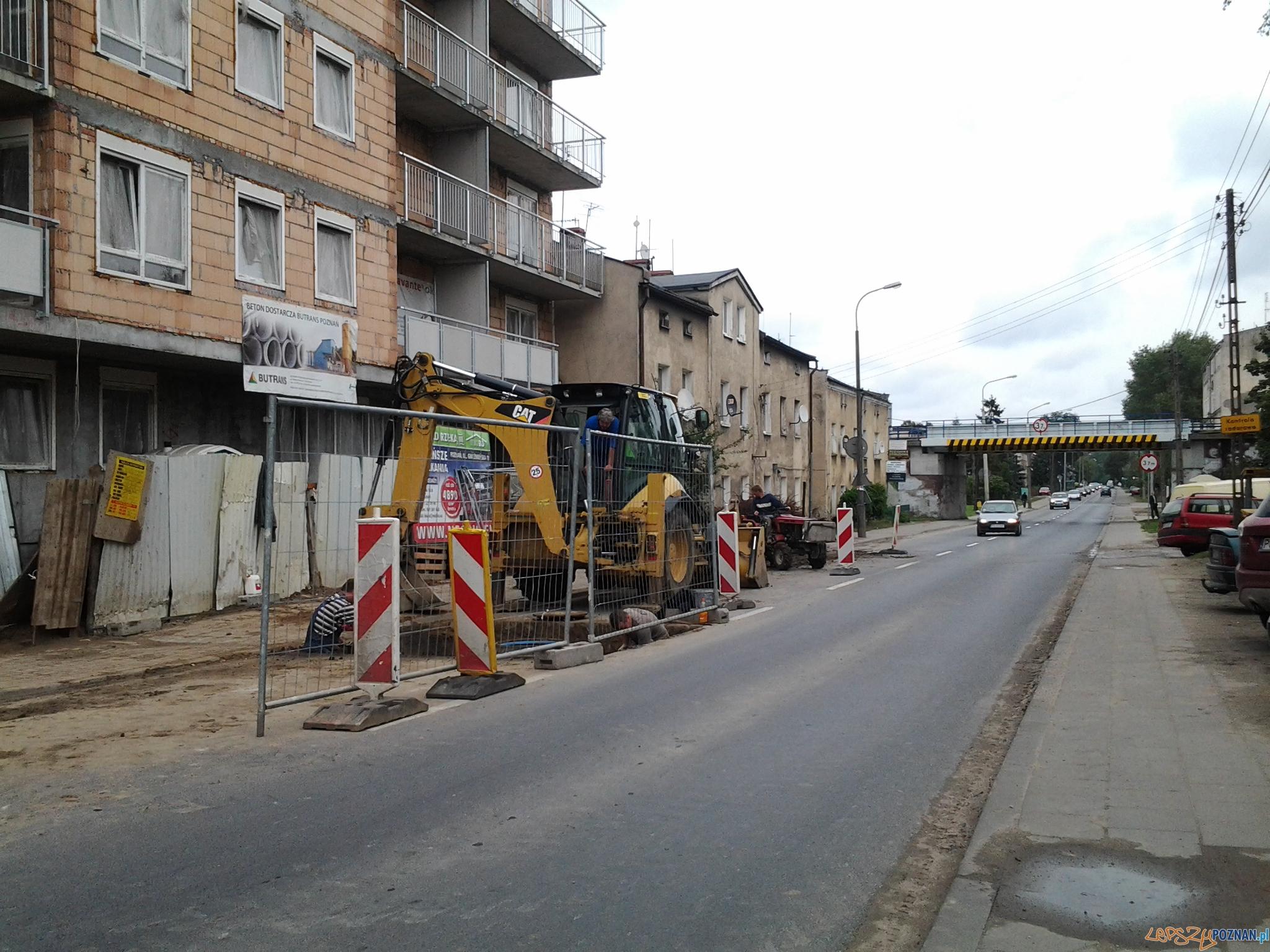 Zwężenie na Gnieźnieńskiej  Foto: lepszyPOZNAN.pl / tab