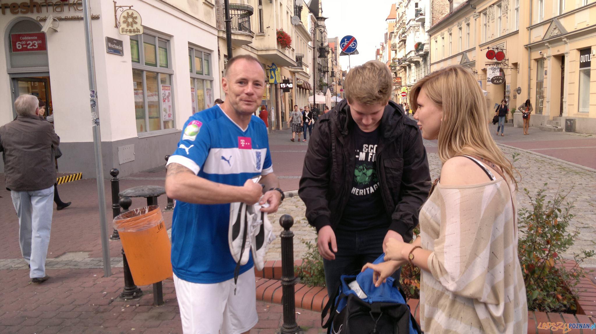 Lech na mieście - Piotr Reiss na Wrocławskiej  Foto: lepszyPOZNAN.pl / gsm