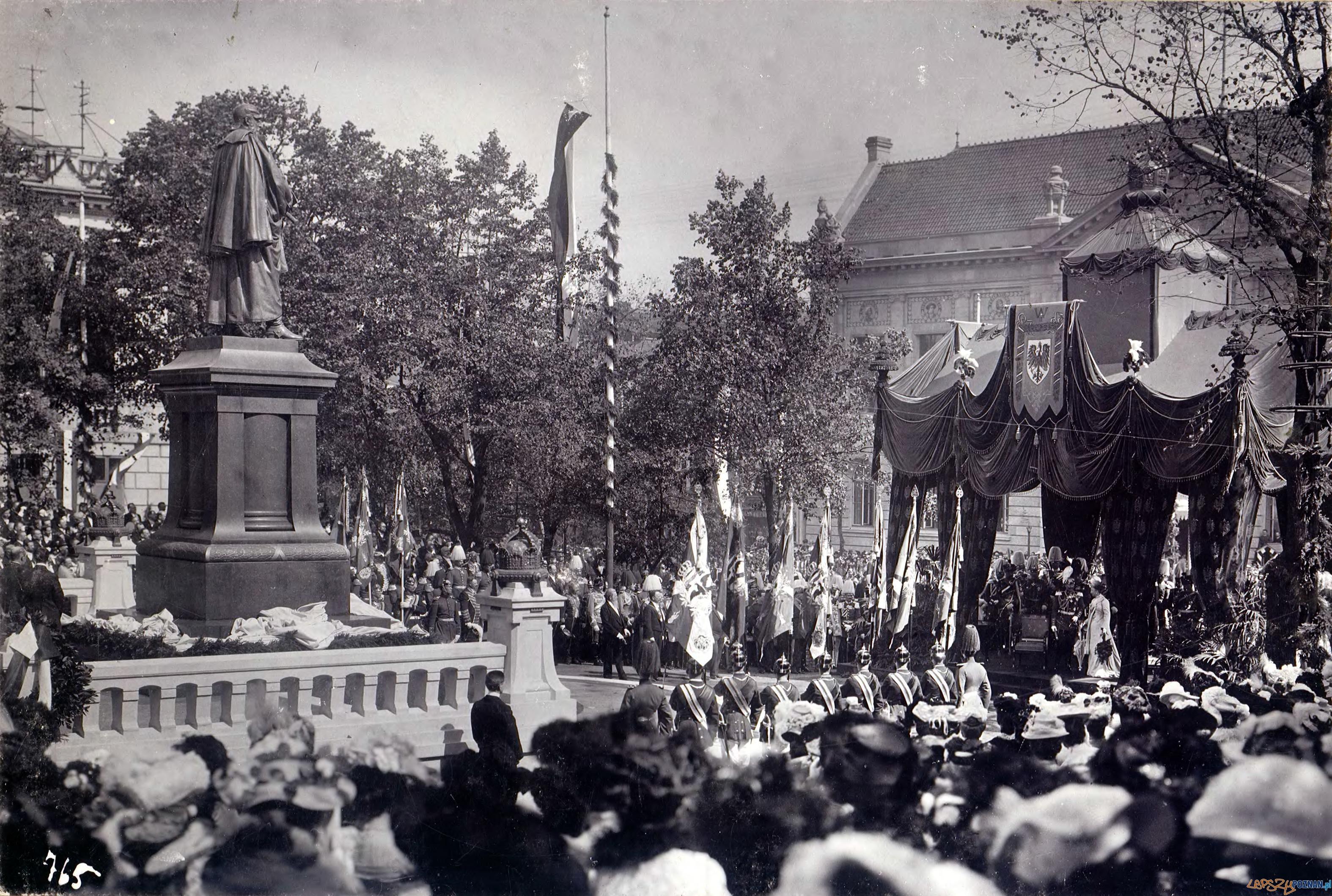 Dni Cesarskie 4 września 1902 - odsłonięcie pomnika Fryderyka III