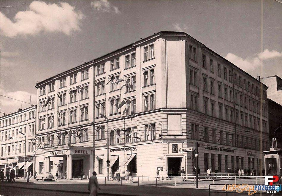 Hotel Rzymski - w tamtych latach Poznański - zdjęcie z lat 1964-68  Foto: fotopolska.eu