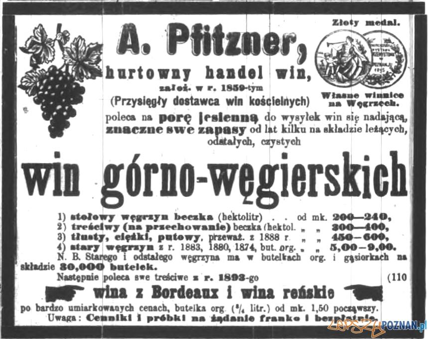 Cukiernia Pfitznera - anons z Dziennika Poznańskiego Foto: poznan.wikia.com