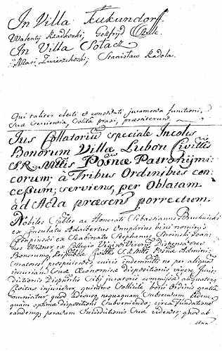 Pierwszy kontrakt między miastem a osadnikami wsi Luboń, zawarty 1 VIII 1719 r Foto: poznan.pl
