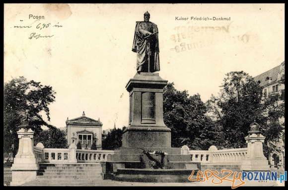 Pomnik Fryderyka III, ok 1908 r Foto: poznan.wikia.com