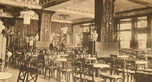Wnętrze kawiarni Esplanad przy placu Wolności, rok 1916