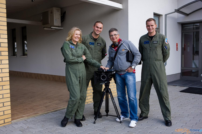 Grażyna Szapołowska i F-16 (3)  Foto: Robert STEFANOWICZ/Sara STUDIO