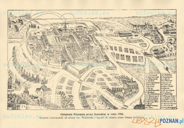 Oblężenie Poznania przez Szwedów w 1704 Foto: sofokles.eu