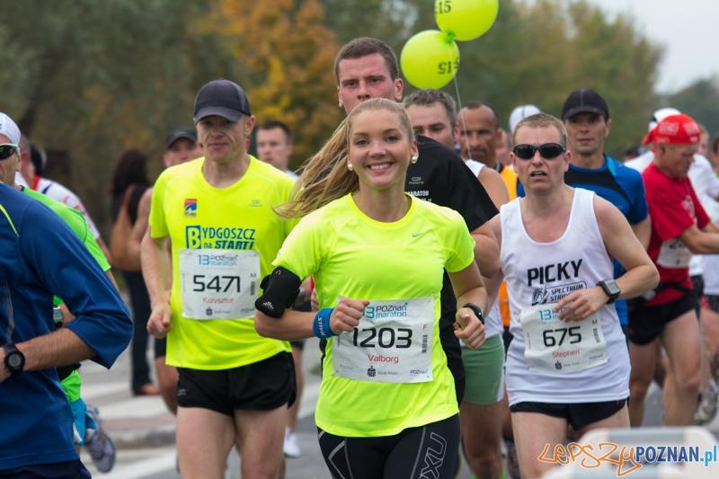 13 Poznań Maraton - nowa trasa od startu do mety. 14.10.2012 r.