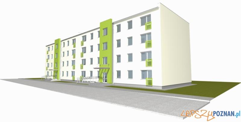 Budynki przy Łaskarza