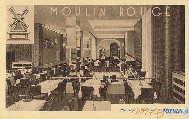 Pocztówka reklamowa - Moulin_Rouge, lata międzywojenne Foto: poznan.wikia.com