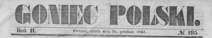 Goniec Polski 31 grudnia 1851