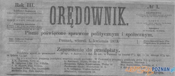 Oredownik nr 1 - 1 kwietnia 1873