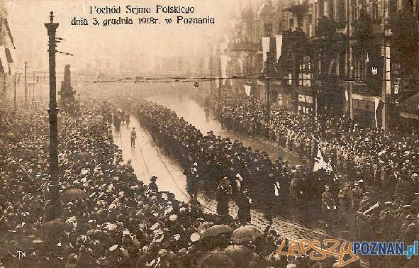 Pochód Sejmu Polskiego dnia 3 grudnia 1918 r. w Poznaniu