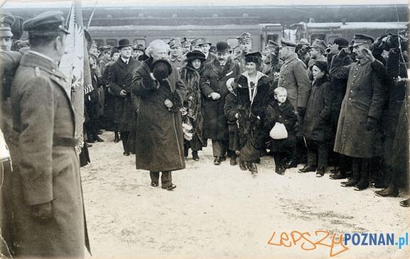 Przyjazd Paderewskiego do Poznania