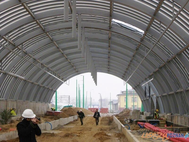 Nowy tunel, który połączy Dworzec Zachodni z peronami 6, 5 i 4 oraz stacją szybkiego tramwaju  Foto: lazarz.pl