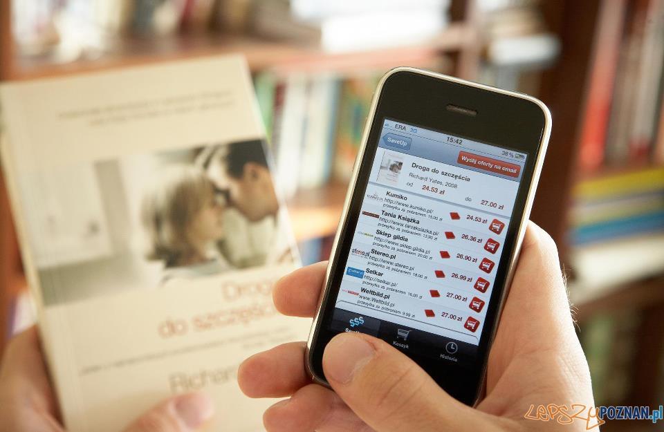 Ze wsparcia funduszu korzystał m.in. SaveUp - aplikacja rozpoznawania obrazu, która umożliwia zakupy książek za pomocą smartfonu.   Foto: facebook