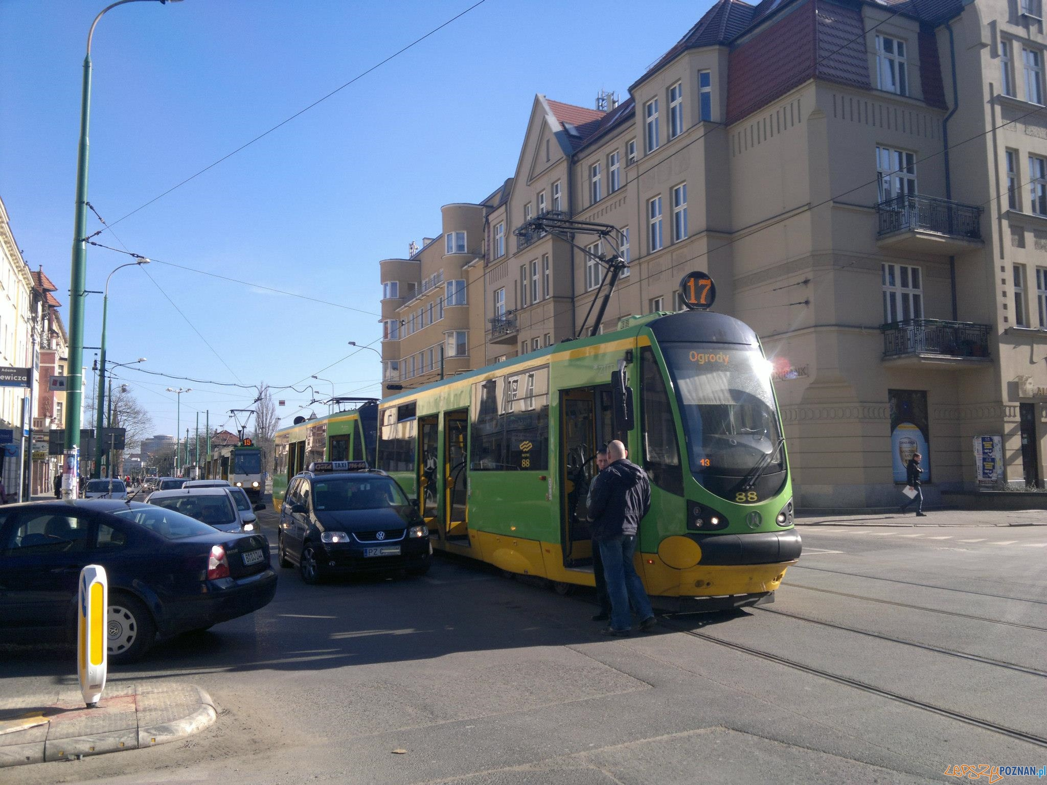 Wypadek na Dąbrowskiego  Foto: