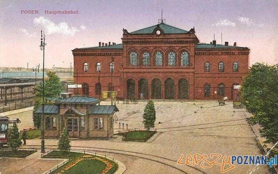 Dworzec Główny w Poznaniu ok. 1924 roku