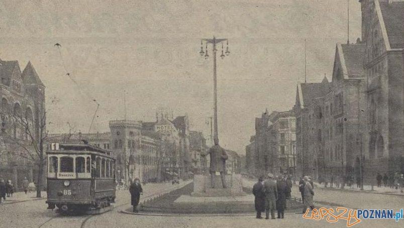 Makieta pomnika Wilsona na Św. Marcinie (Wjazdowej) Foto: Ilustracja Poznańska, 28.04.1931 / Wielkopolska Biblioteka Cyfrowa