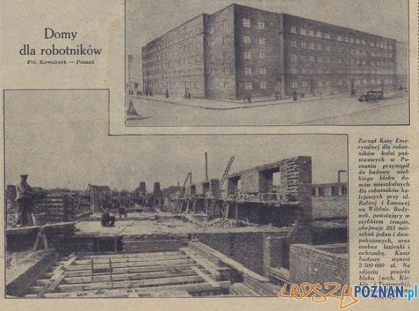 Domy dla robotników.Ilust Poz 08.04.1930 Foto: WBC