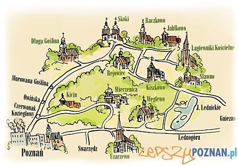 Szlak Drewnianych Kościołów - mapa Foto: Szlak Drewnianych Kościołów - mapa