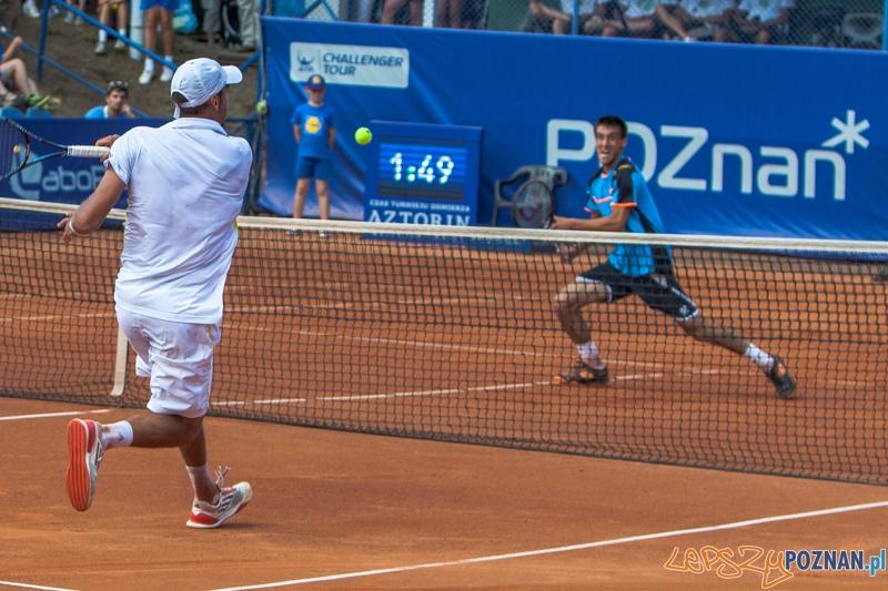 Finałowy pojedynek Poznań Open - Andreas Haider-Maurer - Damir Dżumhur - Poznań 21.07.2013 r.  Foto: LepszyPOZNAN.pl / Paweł Rychter