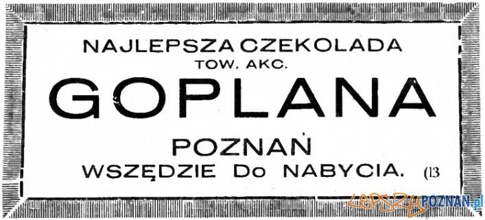 Goplana_ogłoszenie Ilustrowany Kurjer Zachodni 1926 r. Foto: poznan.wikia