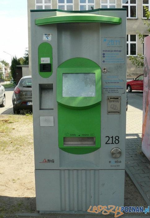 Biletomat w Luboniu Foto: UM Lubonia