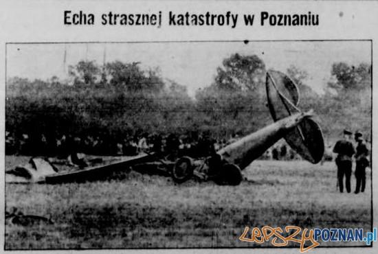 Katastrofa lotnicza w Poznaniu 23.08.1932 Foto: WBC /Kurier Poznański za poznan-posen.pl/