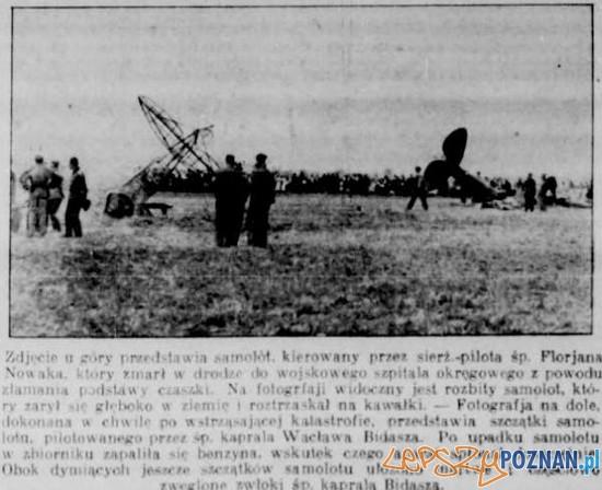 Katastrofa samolotu w Poznaniu 23.08.1932 Foto: WBC /Kurier Poznański za poznan-posen.pl/