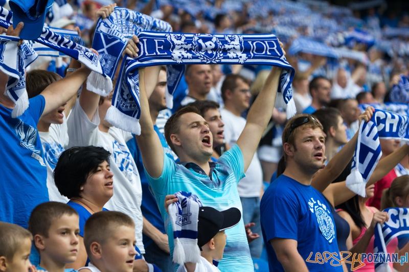 Runda kwalifikacyjna LE - Lech Poznań - Žalgiris Wilno (kibice na stadionie)  Foto: lepszyPOZNAN.pl / Piotr Rychter