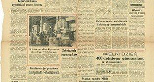 Gazeta Poznańska z 28.09.56 Foto: poznan.pl