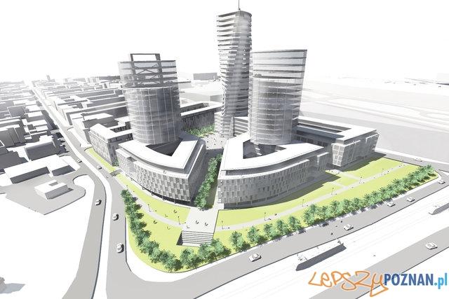 Koncepcja zagospodarowania terenów po dworcu PKS  Foto: Pracownia Architektoniczna Grzegorz Czerwiński