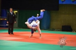 Patryk Kusza na macie w szwedzkim Boras Foto: European Judo Union