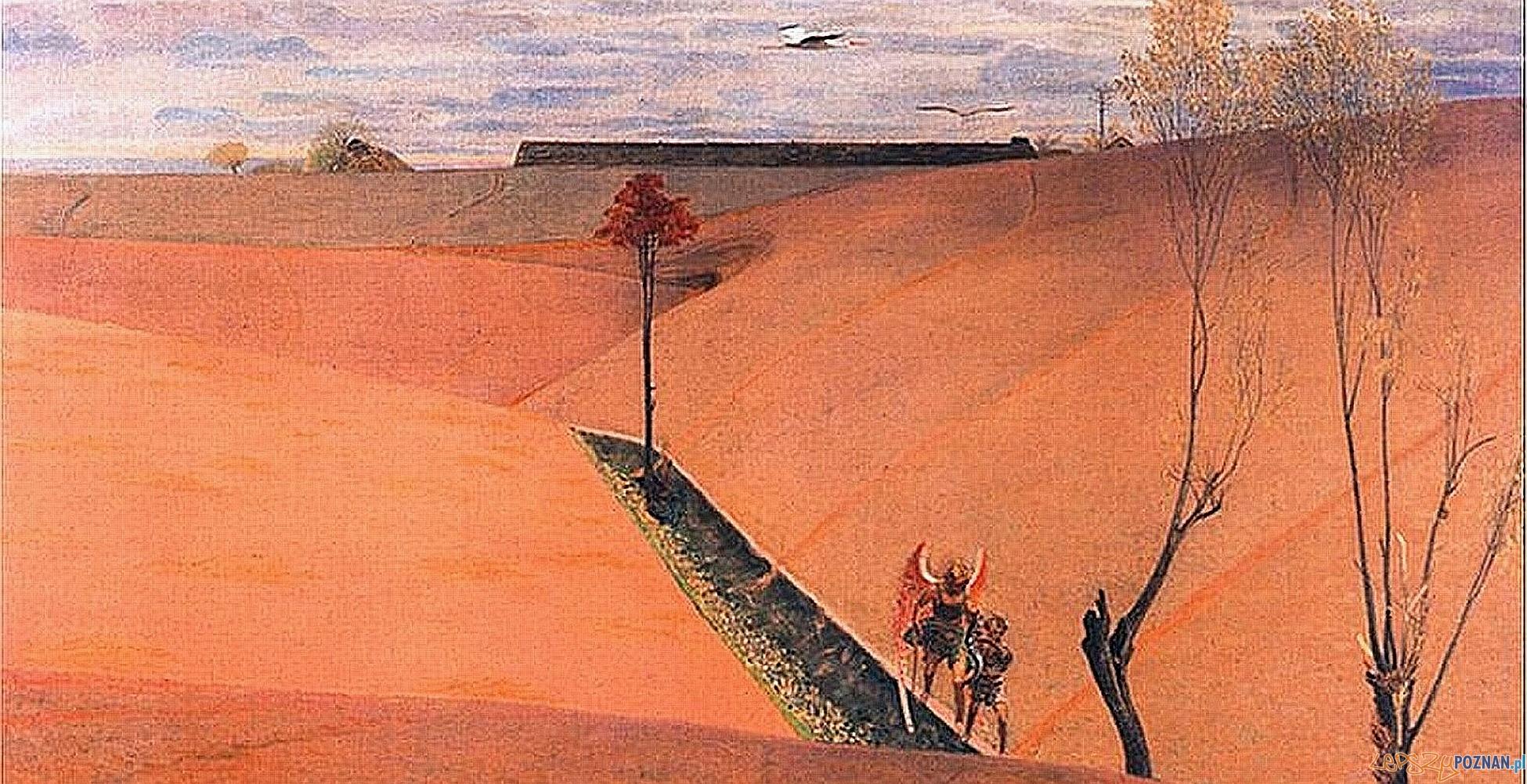 Krajobraz z Tobiaszem. Wiosna, 1904, olej na płótnie, 76 x 97 cm Foto: Muzeum Narodowe w Poznaniu