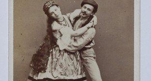 Michal Kulesza z tancerka 1895 Foto: Zakład Fotograficzny Kloch i Dutkiewicz (Warszawa) Biblioteka Narodowa / CC