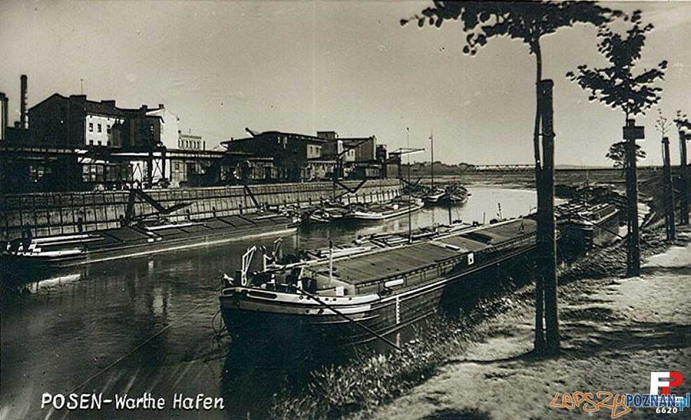 Port nad Wartą lata 40te XX wieku