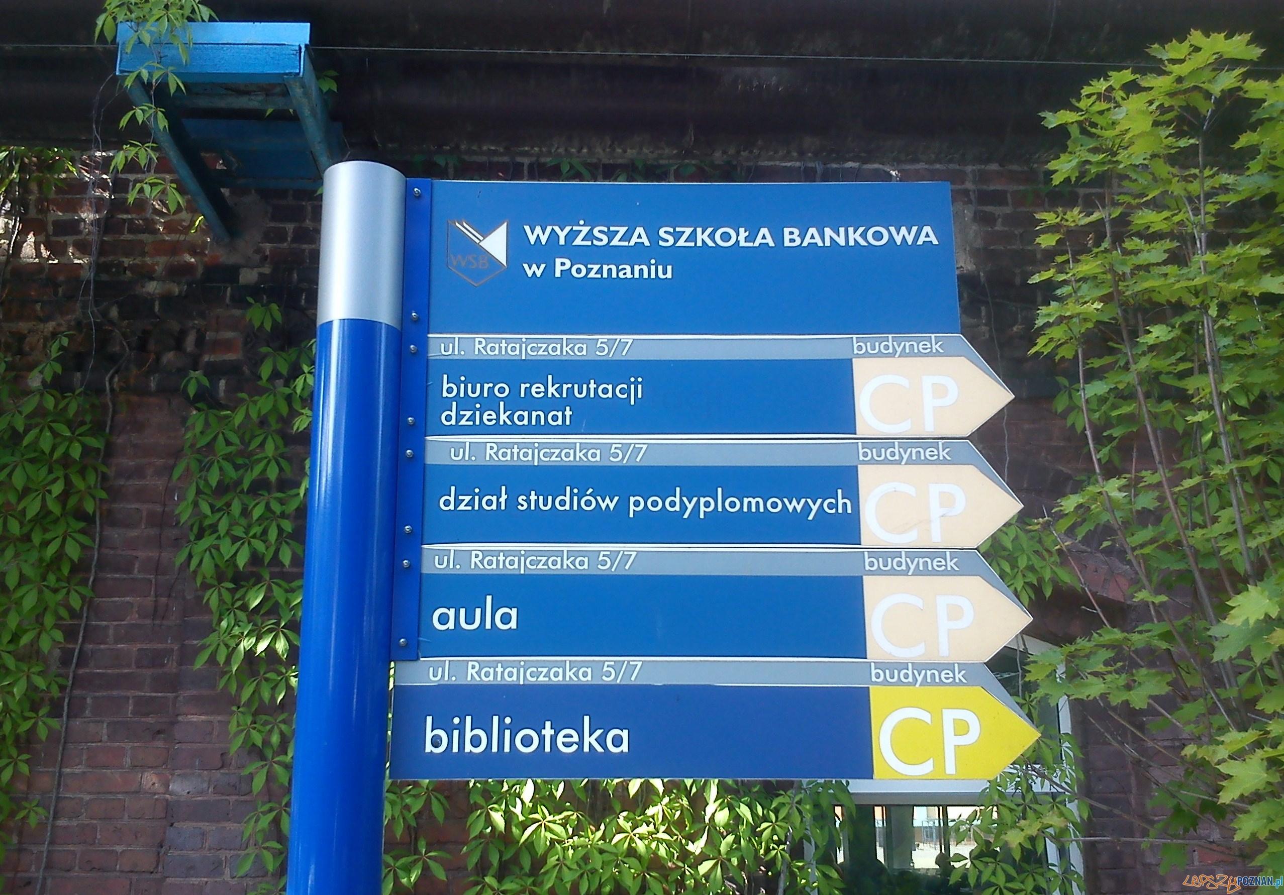 WSB tablica informacyjna przy ulicy Ratajczaka Foto: CC wikipedia