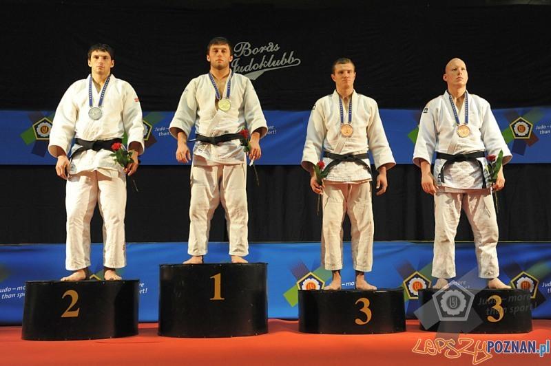 Patryk Kusza na podium w szwedzkim Boras Foto: European Judo Union