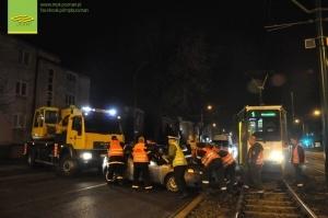 Wypadek na Grunwaldzkiej Foto: MPK Poznań