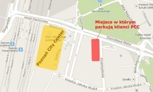 Gdzie parkuje klient PCC? - Poznań 30.11.2013 r. Foto: Google Maps