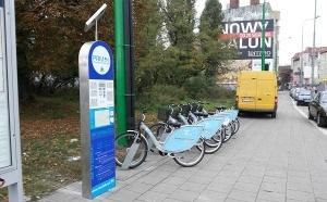 Przeniesiona stacja Poznańskiego Roweru Miejskiego Foto: ZTM Poznań
