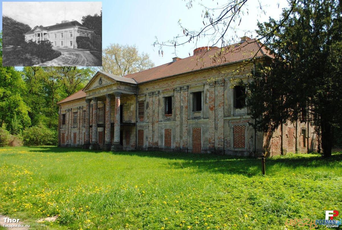 Pałac Mielżyńskich w Chobienicach, stan na 2010 rok, miniaturka - około 1900 Foto: fotopolska