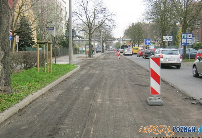 Jeden kierunek ruchu na Marcelińskiej  Foto: ZDM